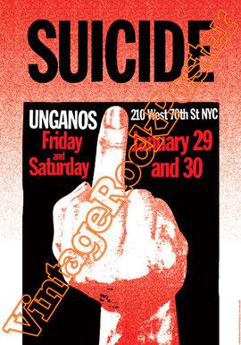 suicide,Alan Vega, Martin Rev,punk,hard core punk,suicide band,suicide concert,suicide poster,manifesto,locandina,affiche,unganos,