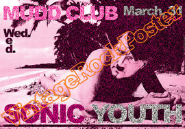 sonic youth, Kim Gordon, Thurston Moore, Lee Ranaldo, Steve Shelley,sonic youth poster,mudd club,new york city,hindie,indie,indipendent music,loolapalooza,punk,new wave