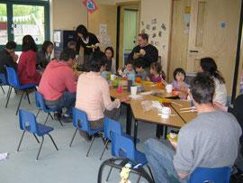 セッションのあと、子どもの日特別ランチ会を楽しみました。