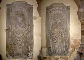 Kloster Denkendorf, Grabplatten in der Vorhalle - © Traudi