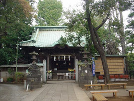 戸越八幡神社の拝殿