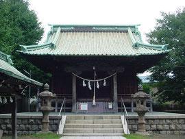 上平間八幡大神の拝殿