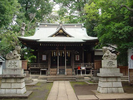 八雲氷川神社の拝殿
