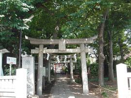 自由が丘熊野神社の一の鳥居