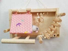 壁がけ バードアスレチック(秋冬用ノーマルバードテント付)