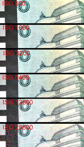 Шум при съемке в JPEG (100% кроп)