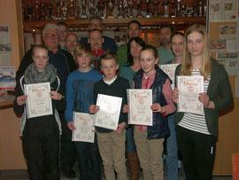 Aktive Sportler aller Altersgruppen wurden für herausragende Leistungen geehrt.