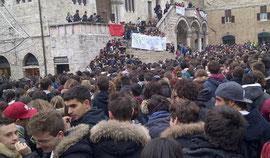 La manifestazione degli studenti perugini