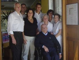 """Le tre generazioni della famiglia Riva """"sulla porta"""" della Verbanella"""
