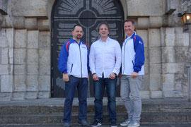 Der neue Vorstand des Fördervereins: vo.li.: Wolfgang Kaletta (Schriftführer), Klaus Weidinger (Schatzmeister), Klaus Haggenmüller (1. Vorstand)
