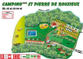 Plan camping St pierre de Rousieux