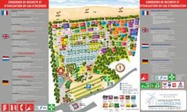 Plan et consignes camping Les Moulins