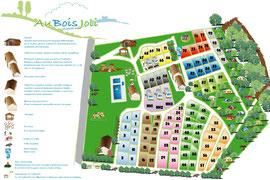Plan camping Au Bois Joli