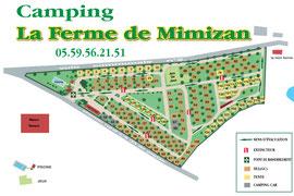 Plan Camping la ferme de Mimizan