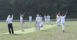 Last wicket falls at the SCA league final (09.9.2012)