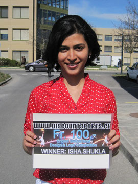 Isha Shukla wins a CHF100 voucher for discountsports.ch