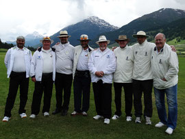 Officials at the International Cricket Festival, Zuoz 2014