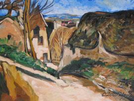 après Cézanne, La Maison du pendu, Auvers-sur-Oise