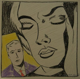 "after Roy Lichtenstein's ""Study for 'Tension'"""
