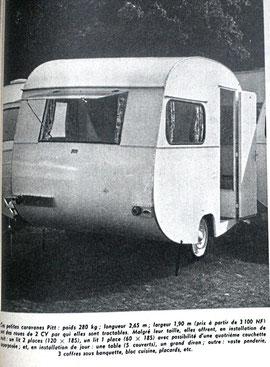 Caravane tractable par une 2CV