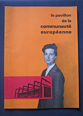 Brochure du pavillon de la communauté européenne à l'expostion de Bruxelles en 1958