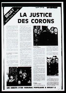 """Page du journal """" la cause du peuple"""" Titre ; la justice des corons"""