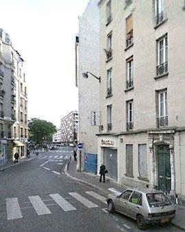 """Premier plan à droite 103 rue de la Glacière; Second plan : l'""""ilot"""" Glacière"""