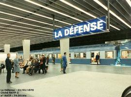 Inauguration en 1970 de la station La Défense