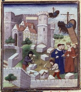 Des tailleurs de pierre au XVème siècle, BnF.