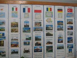 Comenius-Wand im zypriotischen Klassenraum