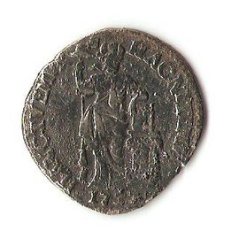 Zilveren gulden uit 1737