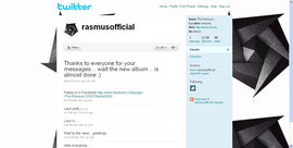 The Rasmus publico algo en Twitter