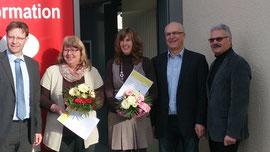 von links Bürgermeister Andreas Hackethal, Anita Stürmer, Caroline Wagner, Karl-Heinz Erz und Herbert Schindler