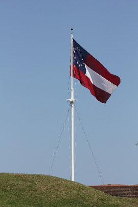 Foto Flagge im Fort Pulaski