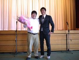 田口くんと清水先生の終演後の2ショット。