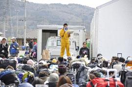 震災後、石巻に集まったボランティア達