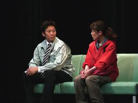 兄妹役を演じた、よっさんと栗栖綾濃さん