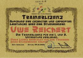 Trainerlizenz Uwe Reichert