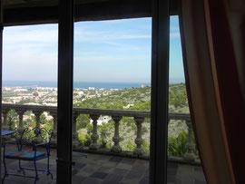 Blick aus der Ferienwohnung 2