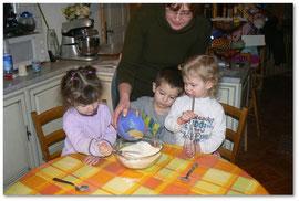 Préparation du gâteau
