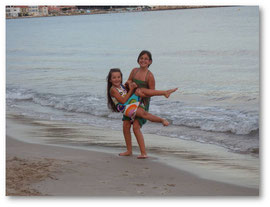 Sur la plage des Sablettes