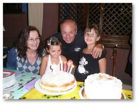 Avec marraine, Popo et Célia