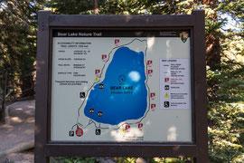 Hinweistafel am Bear Lake.