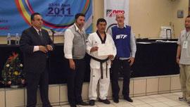 Arbitro Peruano en el campamento Panamericano de Taekwondo WTF.