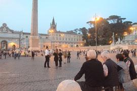 Abendstimmung an der Piazza del Popolo