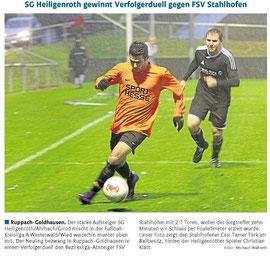 Quelle: Westerwälder Zeitung vom 12.11.12