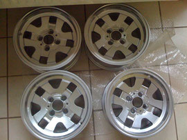 the wheels after sanding and powder coating