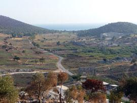 Вид руин древнего г. Патары (Анталия, Турция)