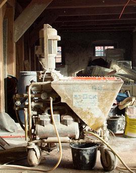 Eine imposante Baumaschine (Foto: Rita Helmholtz)