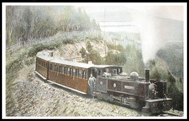 Vale of Rheidol Railway train on it's way to Devils Bridge.